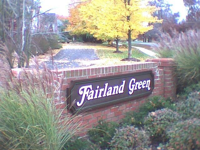 Fairland Green Sign